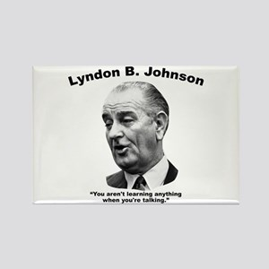 LBJ: Talking Rectangle Magnet